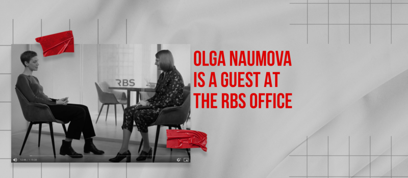 «Russkiye norm!» program footage with Olga Naumova took place in the RBS office